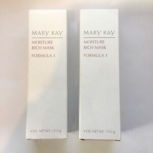 Lot of 2 MARY KAY MOISTURE RICH MASK FORMULA 1 Dry to Normal Skin 4 OZ NIB