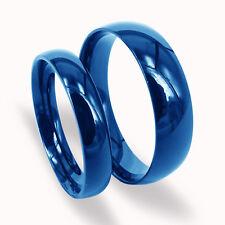 Everstone Paar Eheringe Eheringe Titan Blau e ringes Größe: 47-76