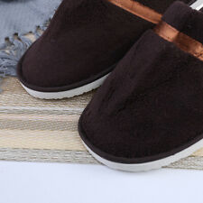MEN FLAT SLIPPER GUEST HOME BEDROOM COMFORT CLOSED TOE SLIP ON SHOES TRAVEL SIZE