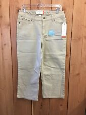 NWT FRENCH LAUNDRY Womens Five Pocket Crop Cotton Stretch Capris, Size 10
