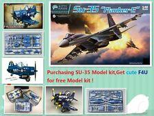 Kitty Hawk #KH80142 1/48 Su-35 'Flanker-E' +Tiger Model #104 Cute Series F4U