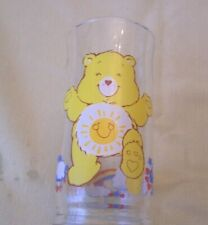 CARE BEAR FUNSHINE PIZZA HUT DRINKING GLASS Vintage 1983
