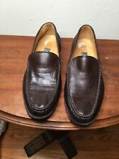 Bally Switzerland  Men's Brown Leather Braided Loafer Shoes Size 6