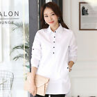 Elegant Blouse White Shirt Women Office Button Down Shirts Formal Casual Cotton
