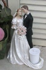 Cake Topper Candle Holder Man and Woman Statue Traditional Elegance Boquet Roses