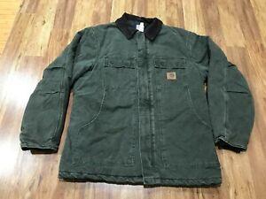 MENS MEDIUM - Vtg Carhartt C26 Sandstone Arctic Quilted Coat Jacket USA