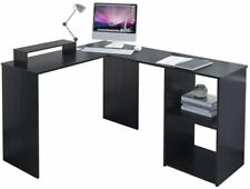 Computer Desk L-Shaped Corner Large PC Laptop Study Table Gaming Home Office