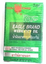 3x3ml. EAGLE BRAND MEDICATED OIL RELIEF OF ACHES AND PAINS OF MUSCLES DIZZINESS
