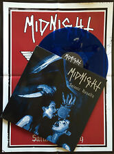 MIDNIGHT LP SATANIC ROYALTY BATHORY VENOM NEKROFILTH NUNSLAUGHTER MOTORHEAD BLUE