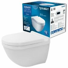 Duravit Starck 3 Rimless Wandtiefspül-WC Set spülrandlos 45270900A1 mit WC-Sitz