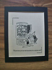 Print Bunnies Mouse Gordon Robinson Candy Or Toy Car 1930s Bookplate 8x10 Matted