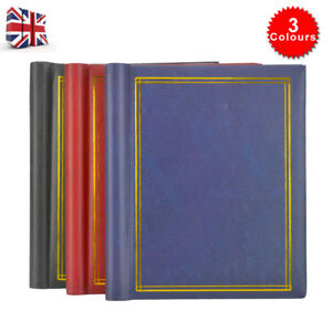 3X Large Self Adhesive Photo Album Total 60 Sheets 120 Sides Red &Blue & Black