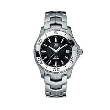 Tag Heuer WJ1110.BA0570 Link Mens Black Dial  Quartz Stainless Watch With Box