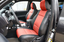 TOYOTA TACOMA SPORT TRD 09-15 BLACK/RED LEATHER-LIKE CUSTOM FRONT SEAT COVER