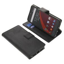 Funda para Wileyfox Swift smartphone estilo libro Protectora Móvil Negro