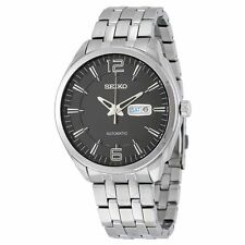 Seiko Recraft Automatic Black Day Date Dial Stainless Steel Men's Watch (SNKN47)