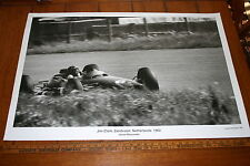 JIM CLARK AT SPEED ZANDVOORT JESSE ALEXANDER IMAGE POSTER 24 X 36 BLACK & WHITE