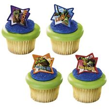 TMNT Teenage Mutant Ninja Turtles cupcake rings (24) party favor cake topper