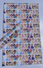 Disney Princess White Background Faux Leather Sheet DIY Craft Accessories