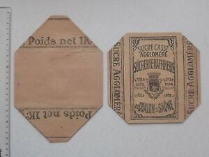 Emballage ancien complet Boîte SUCRE CASSE aggloméré: Sucrerie CHALON-SUR-SAONE