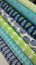 7 Fat Quarters Bundle of Kate Nelligan's TIDE POOL fabrics ~ 1.75 yards total