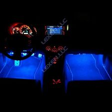 "LED B3 BLUE 2X 12"" INTERIOR STRIP FOOTWELL LIGHTS UNDER DASH BULB SMD EXTERIOR e"