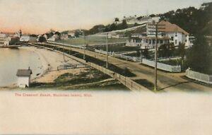 V MICH Crescent Beach Mackinac Island Michigan Vintage Litho Postcard