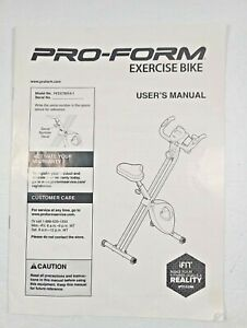 Pro-Form fold away  exercise bike model PFEX78914.1 Owners Manual Only