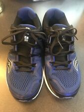 Men's Saucony Hurricane ISO Running Shoes Size 8.5 UsedBlue/Wht/Silver