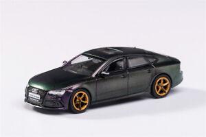 GCD 1:64 Audi RS7 Sportback Chameleon GreenPurple RHD Model Car