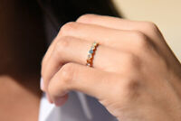 Diamant Memory Ring 10 Brillanten 0,16 Carat 585er 14 K Gold Weißgold Rosegold