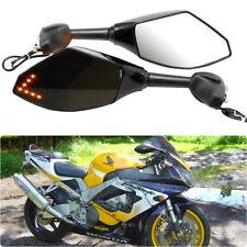 Motorcycle LED Turn Signal Racing Side Mirror For Honda CBR900/929 CBR600 F4/F4i