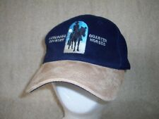 Lonesome Country Quater Horses Hat Cap Suede Leather Brim Cowboy Ranch Excellent