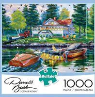 1000 PIECE PUZZLE BUFFALO GAMES DARRELL BUSH COTTAGE RETREAT  (BNIB )