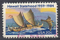 USA Briefmarke gestempelt 20c Hawaii Statehood 1959 - 1984 Rundstempel / 594
