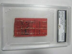 1940 Cleveland Indians vs Detroit Tigers Ticket Stub Final Home Game Authentic