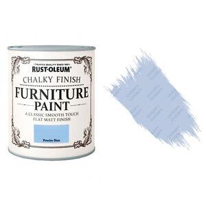 Rust-Oleum Chalk Chalky Furniture Paint Chic Shabby 750ml Powder Blue Matt