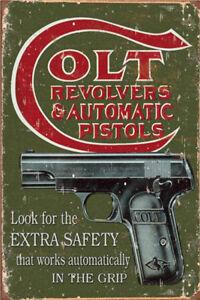 Metal Tin Sign colt revolvers  Decor Bar Pub Home Vintage Retro