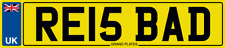NUMBER PLATE RE INITIALS RE15 BAD REGISTRATION RE IS BAD RICK RYAN RAY ROB RJE