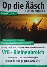 Programm 2009/10 VfB Korschenbroich - SC Teutonia Kleinenbroich