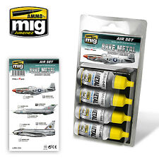 Ammo by Mig - Bare Metal Aircraft Colors Acrylic Paint Set # MIG-7216