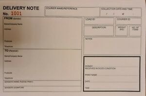 Delivery note, Proof of delivery triplicate A5, POD book ,  BUY 4 GET 1 FREE