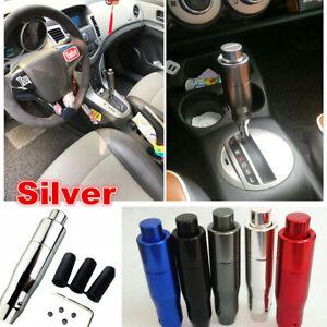 Silver AT Car Automatic Knob Gear Shift Head Shifter Lever Stick Accessories