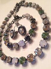 Swarovski crystal elements Necklace Bracelet Earring 8mm Jewelry Set New