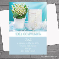 Girls 1st First Holy Communion Party Invitations x 12 +envs  Blue H1072
