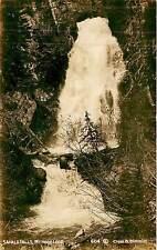 Oregon, OR, Mt Hood Loop, Sahale Falls Real Photo Postcard