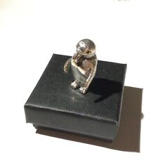 More details for sterling silver miniature penguin bird figure statue collectable curio gift