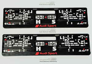 Original Audi Support de Plaque D'Immatriculation / Kennzeicherverstärker Sport