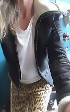Husk Shearling Leather Suede Jacket Sz 1/8-10
