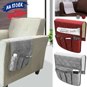 5 Pocket Arm Sofa Chair Control Holder Storage Rest Couch Organizer Bag Remote
